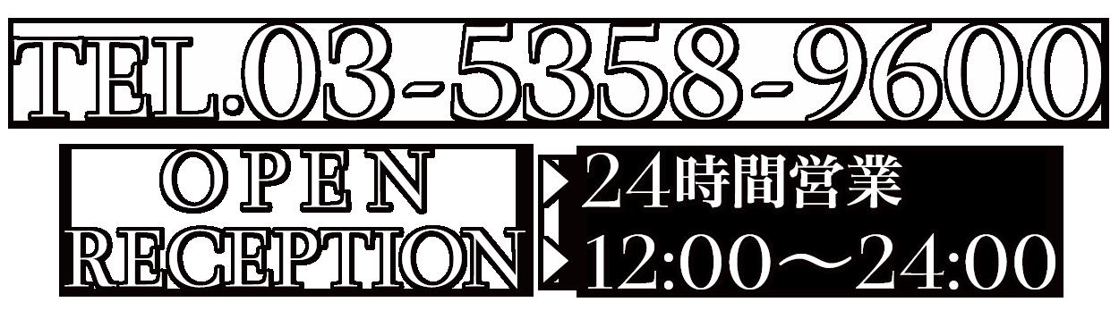 電話番号03-5358-9600